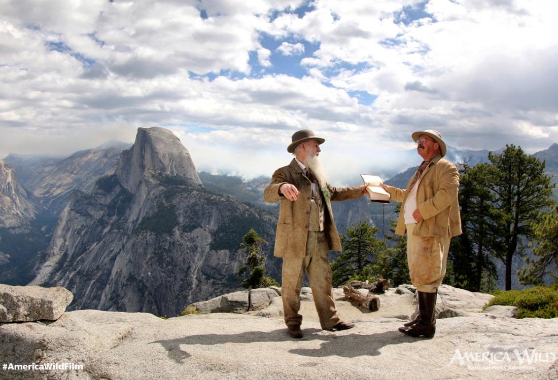 John Muir and President Theodore Roosevelt in Yosemite