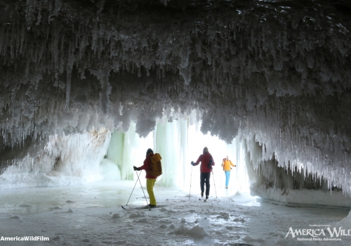Ice Cave in Pictured Rocks National Lakeshore